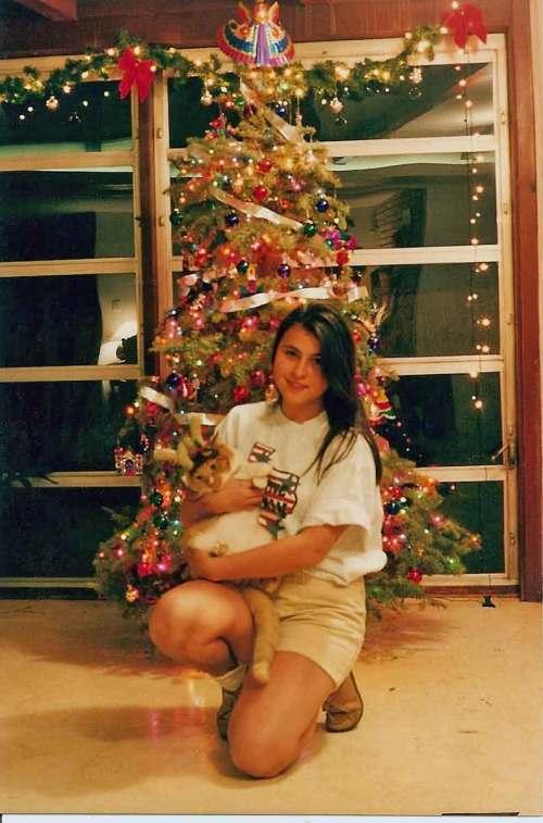 Olga and Leo, Christmas 1996