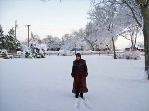 Shadi in the snow, Melissa, U.S.A., 2008