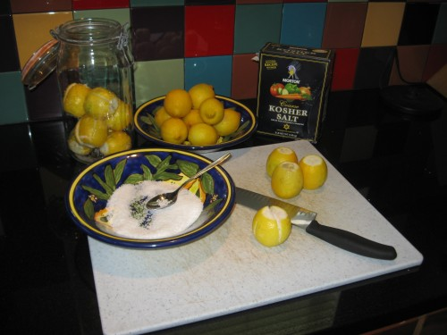 Preparing Pickled Lemons