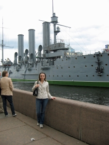 Kate and the Aurora, St. Petersburg, Russian Federation, 2008